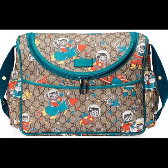 28c3c33ba1b Gucci GG Supreme Space Cat Diaper Bag